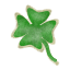 a sweet treat shaped like a shamrock