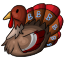 This turkey says 'Gobble, Gobble' when you squeeze it.