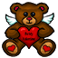 A cute teddy bear to celebrate Valentines Day!