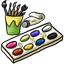 Here's a great watercolor paint set for you to make works of art.