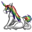 This niblet was modeled after the rainbow unicorn, which is an extremely rare creature.